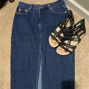 Vintage guess straight denim skirt